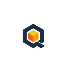 box letter q logo icon design vector image