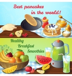 Breakfast Colored Concepts vector image