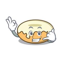 Call me donut with sugar mascot cartoon vector