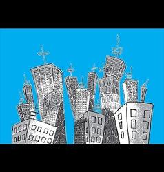Cartoon concrete city vector