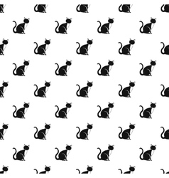 Cat pattern simple style vector image