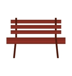 Chair park wooden icon vector