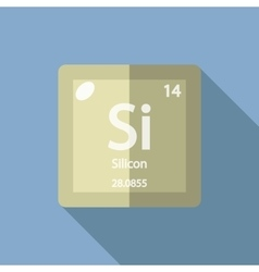 Chemical element Silicon Flat vector image