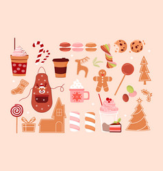 christmas baking set vector image