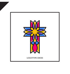 church logo christian symbols jesus cross vector image