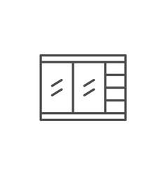 closet line icon vector image