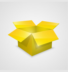 Color open box yellow vector