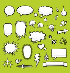 Comic elements vector