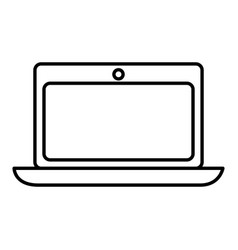 computer laptop isolated icon vector image