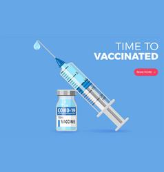 Covid19-19 coronavirus vaccine and syringe vector
