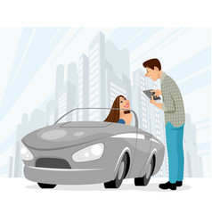 dating man and woman vector image