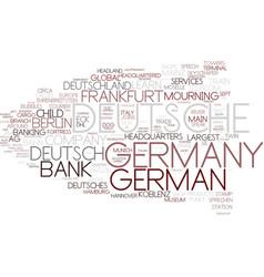 Deutsch word cloud concept vector