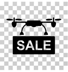 Drone sale icon vector