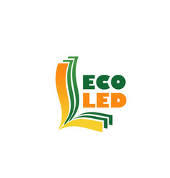 eco led sign vector image
