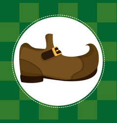 Elf shoe st patricks day vector