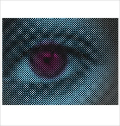 eye halftone dots vector image