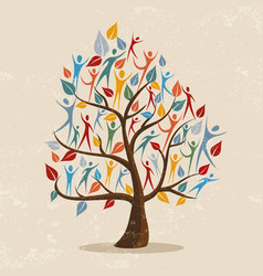 family tree concept with people icon vector image