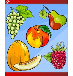 fruits set cartoon vector image