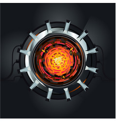 futuristic engine atom energy reactor vector image