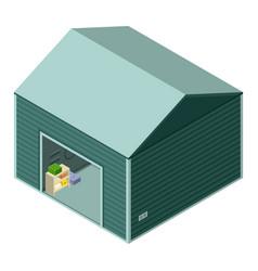 Garage icon isometric style vector