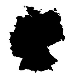 Germany - solid black silhouette map of country vector
