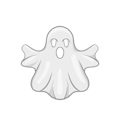 Ghost icon black monochrome style vector