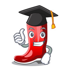 Graduation single of boots isolated on mascot vector