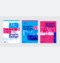 graphic design geometry shape blue layout vector image