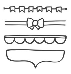 hand drawn decoration graphic element set vector image