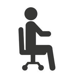 Human figure silhouette seated icon vector