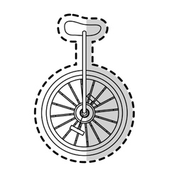 Isolated circus bike design vector