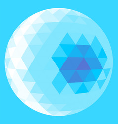 Light blue triangle sphere vector