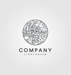 lighthouse logo design minimalist lighthouse logo vector image