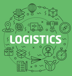 linear logistics vector image