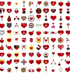 Love 100 Concept Shape Design Set 22 vector image