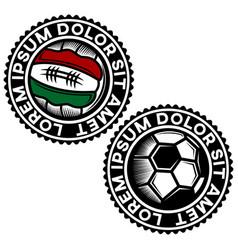 modern football logo vector image