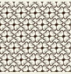 monochrome ink seamless pattern with doodle petals vector image