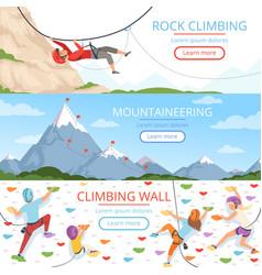 mountain climbing pictures rope carabiner helmet vector image