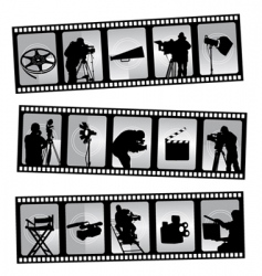movie filmstrip vector image vector image
