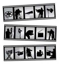 Movie filmstrip vector