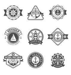 Nautical Isolated Label Set vector image