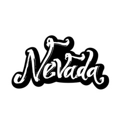 Nevada sticker modern calligraphy hand lettering vector