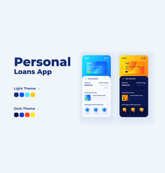 personal loans app cartoon smartphone interface vector image