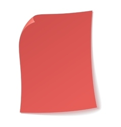 Pink sheet of paper icon vector image