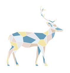 Polygonal geometric outline multicolor of deer vector