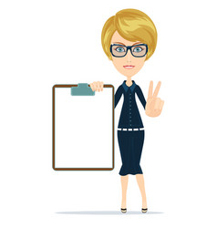 portrait of the business woman with a represent vector image