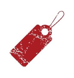 Red grunge price tag logo vector image