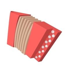 Red retro accordion cartoon icon vector