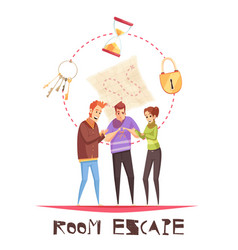 Room escape design concept vector