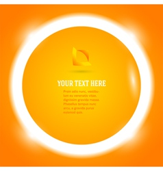 round frame your message bright orange button vector image